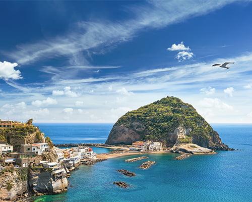 Flotte vandringer på vakre Ischia