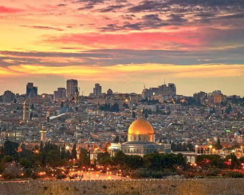 Israel - blant de tre hav