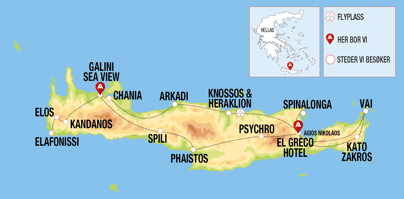 kart kreta vest Klassiske Kreta kart kreta vest