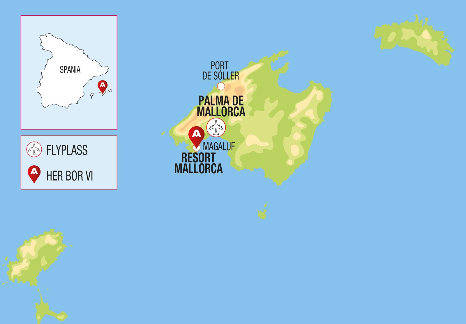 Kart langtidsferie Mallorca